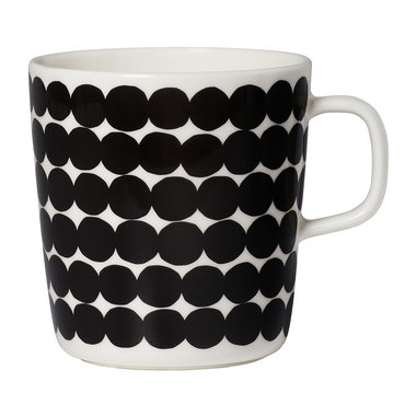 Marimekko servies Oiva beker groot wit/zwart 4 dl 067497-190