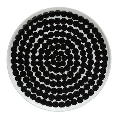 Marimekko servies Oiva klein bord wit/zwart 20 cm 067265-190