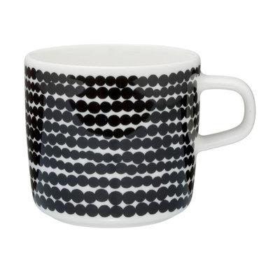 Marimekko servies Oiva koffiekop wit/zwart 2 dl 063292-190