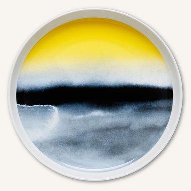 Marimekko servies Oiva schaal 32 cm zwart/geel 066012-192