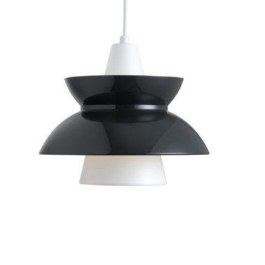 Louis Poulsen Doo-Wop hanglamp, verlichting, Donker grijs en wit