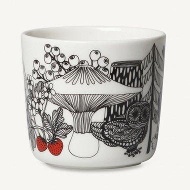 Marimekko servies Oiva koffiekop wit/zwart/rood 100 years Finland 2 dl 068703-193 set van 2 stuks