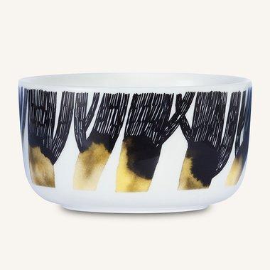 Marimekko servies Oiva kom zwart/geel 5 dl 066011-192