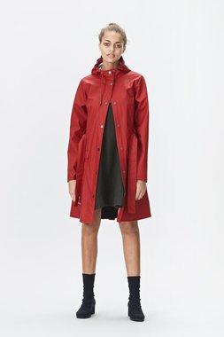 Rains Regenjas Curve Jacket rood 1206-20