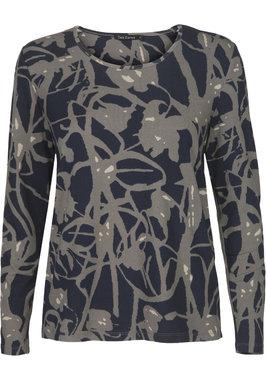 Two Danes Betty T-shirt Night Sky/Thunder/Concrete 95532-P979