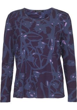Two Danes Betty T-shirt Dark Purple/Iris Blue/Lilac 95532-P948