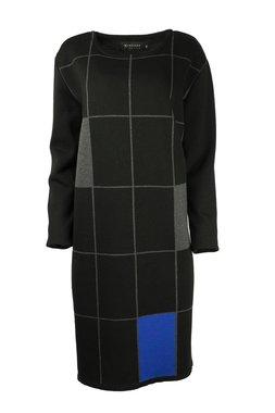 Karvinen Rastar jurk H022 zwart kobalt grijs