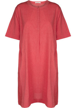 Two Danes jurk Callie roze-rood
