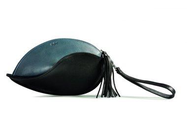 by-Lin Tas Heliconia Clutch zwart/blauw 160982