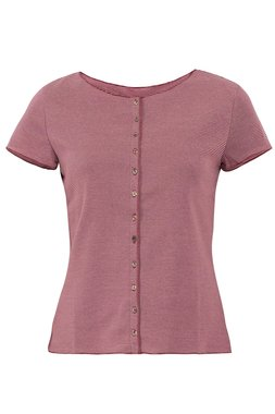 Jalfe shirt met knopen ekologisch katoen rose-roodbordeaux
