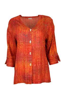 Unikat Artwear kleding blouse 122 rood