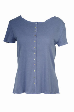 Jalfe shirt met knopen ekologisch katoen lavendel-blauw/lavendel