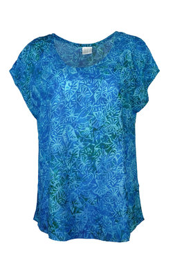 Unikat Artwear kleding blouse 180 aqua