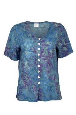 Unikat Artwear kleding blouse 130 fuchsia