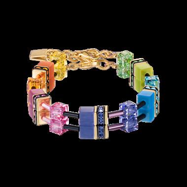 Coeur de Lion Armband 2838/ /1573 Multicolor Rainbow-Gold 2