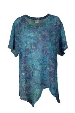 Unikat Artwear kleding shirt 151 fuchsia blauw paars