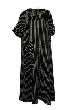 Ralston linnen jurk Saga zwart wit 68376