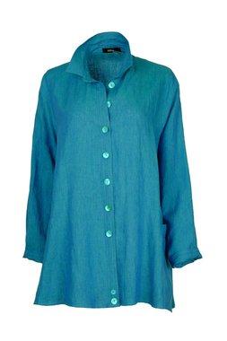 Ralston linnen blouse Wally Turquoise 61548