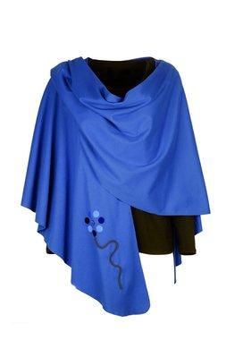 Geesje Sturre cape cobalt blauw onesize 154351