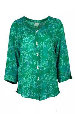 Unikat Artwear kleding blouse 134 emerald groen