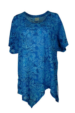 Unikat Artwear kleding shirt 151 helder blauw