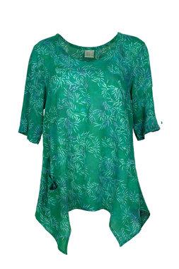 Unikat Artwear kleding shirt 148 emerald groen