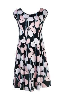 Mansted kleding Tulip jurk zwart accent rose
