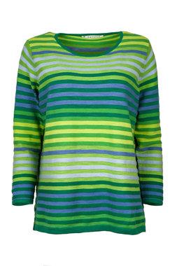 Mansted kleding Lela trui groen accent aqua geel
