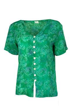 Unikat Artwear kleding blouse 130 emerald groen