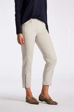 Laurie broek, model Piper Regular Cropped basis katoen sand 22465-25107