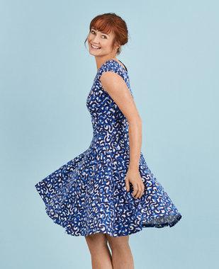 Mansted kleding Rihana jurk donkerblauw