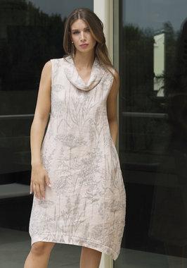 Blueberry Italia linnen jurk wit 9043-45