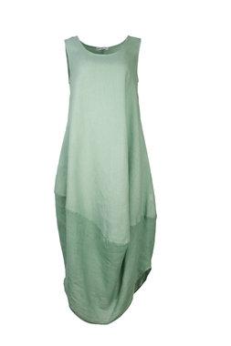 Blueberry Italia linnen jurk mint 9073