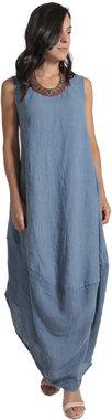 Blueberry Italia linnen jurk sky 9073