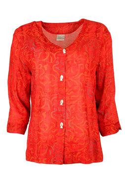 Unikat Artwear kleding blouse 120 rood