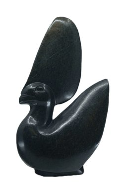 Stenen beeld uniek, Crown Bird, Kambue Benaya, Tengenenge
