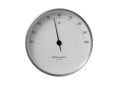 Georg Jensen hygrometer RVS/wit 10 cm Henning Koppel