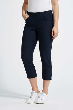Laurie broek, model Caroline Regular Capri 3/4 basis viscose donkerblauw 28041-49970