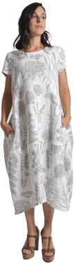 Blueberry Italia linnen jurk wit 9088-45
