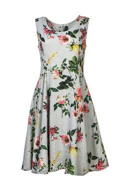 Blueberry Italia linnen jurk grijs 51042-46