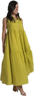 Blueberry Italia linnen jurk lime 9083