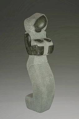 Stenen beeld uniek, Caring mother, moeder en baby, Kenneth Laisi