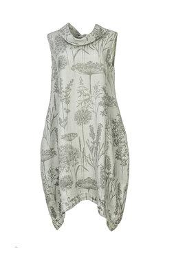 Blueberry Italia linnen jurk grijs 9043-45
