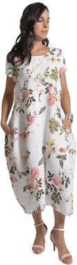 Blueberry Italia linnen jurk wit 9088-46