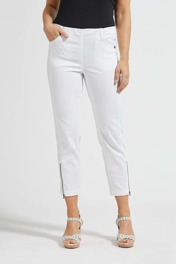 Laurie broek, model Piper Regular Cropped basis katoen wit 22465-10100