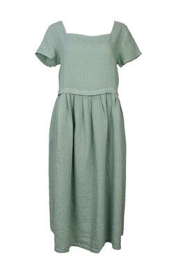Blueberry Italia linnen jurk mint 9059