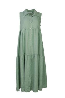 Blueberry Italia linnen jurk mint 9083