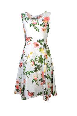 Blueberry Italia linnen jurk wit 51042-46