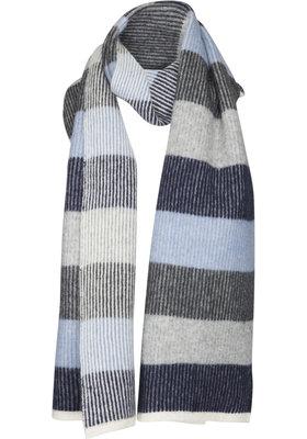 Two Danes sjaal Lilibeth wit/grijs 29522-C205