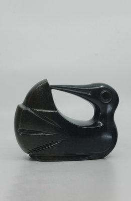 Stenen beeld uniek dier, Washing bird, Kambue Benaya, Tengenenge